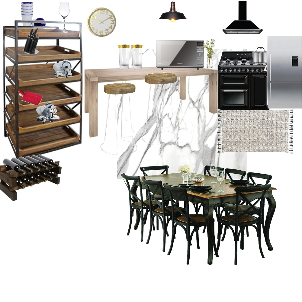 Oliver's mansion kitchen and dining Interior Design Mood Board by alveena on Style Sourcebook