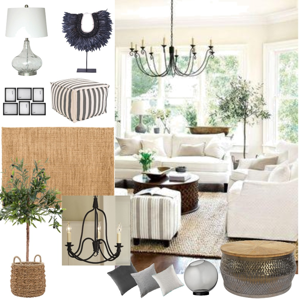 achromatic Interior Design Mood Board by lisaclaire on Style Sourcebook