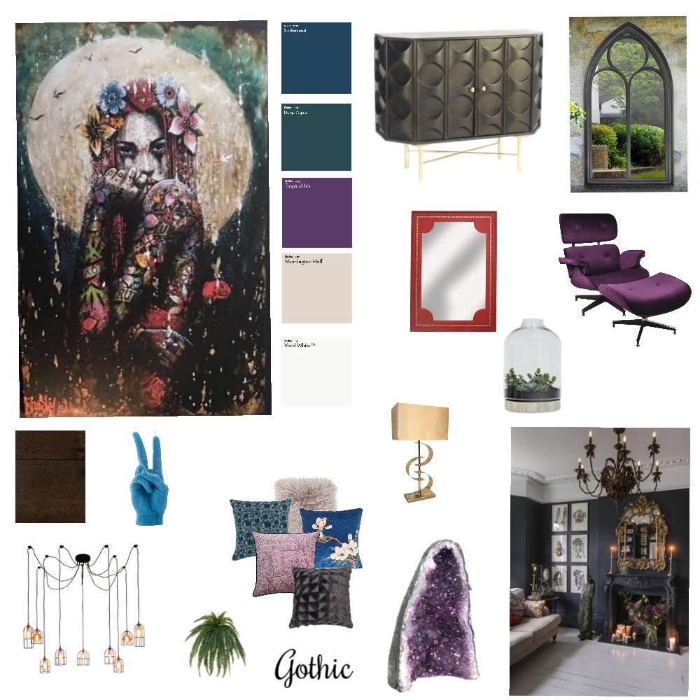Gothic Interior Design Mood Board by Donnacrilly on Style Sourcebook