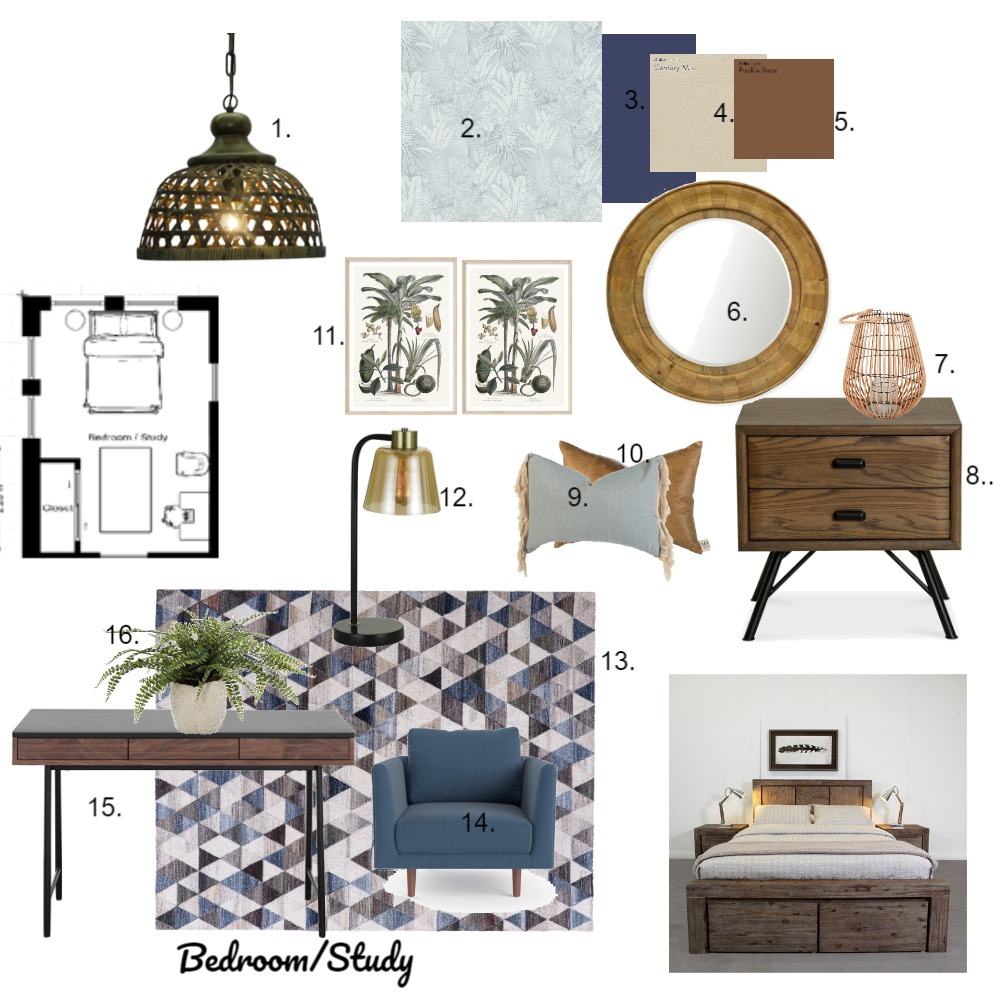 Assignment 9 - bedroom mood board Interior Design Mood Board by cathyg on Style Sourcebook