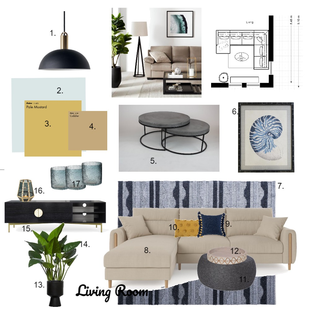 Living Room - house plan Interior Design Mood Board by cathyg on Style Sourcebook