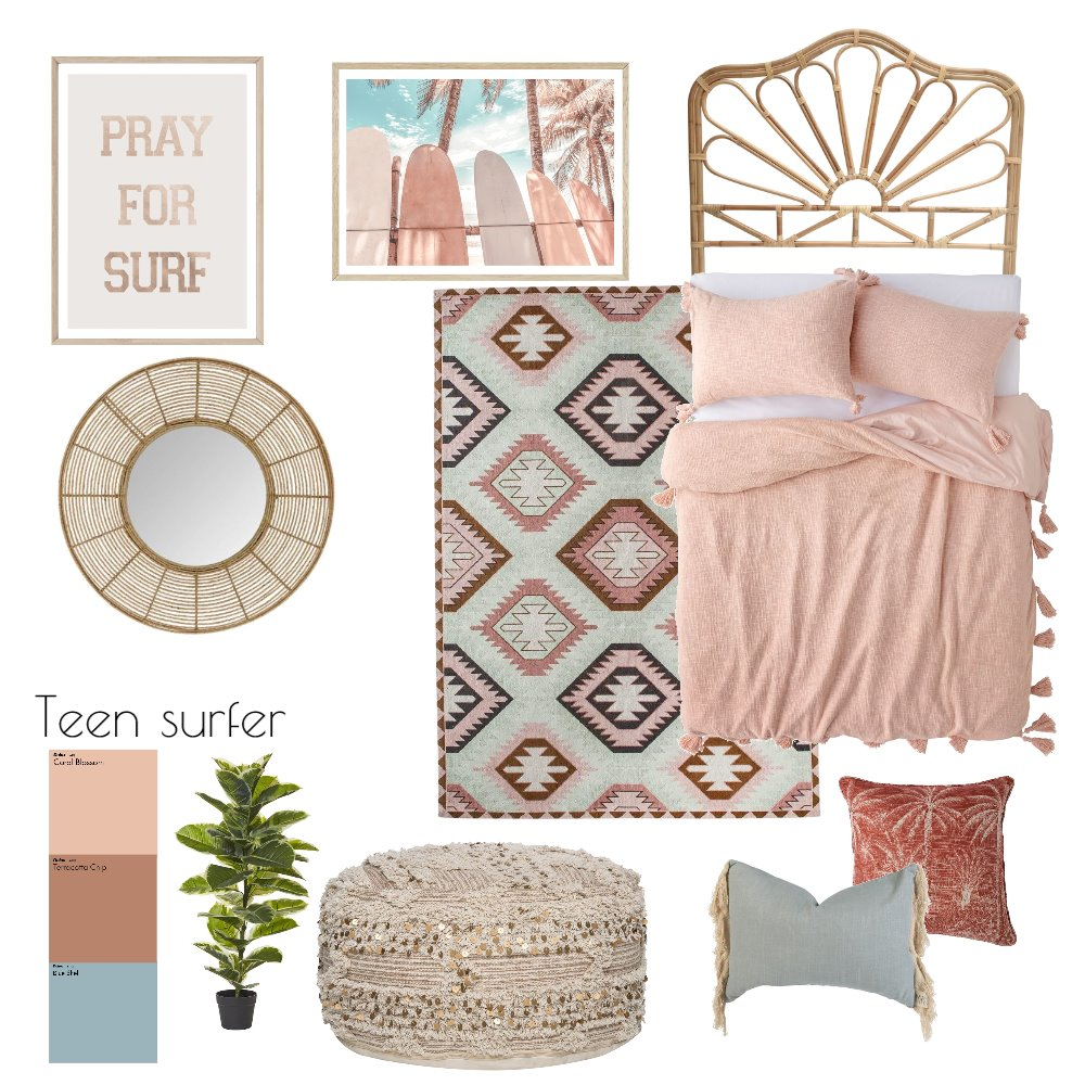 Teen surfer Interior Design Mood Board by carla.woodford@me.com on Style Sourcebook