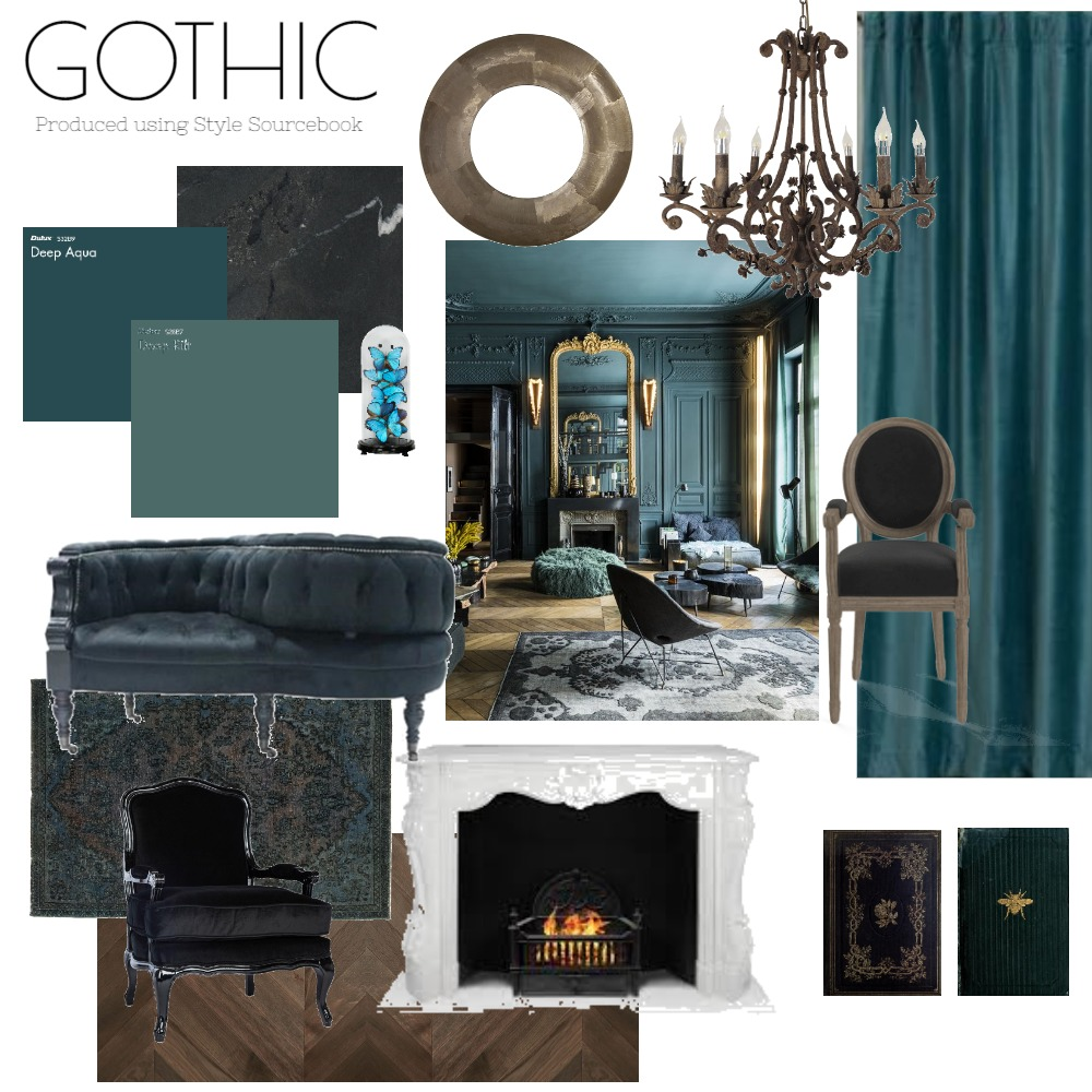 Gothic Mood Board 1 Interior Design Mood Board by RachRom on Style Sourcebook