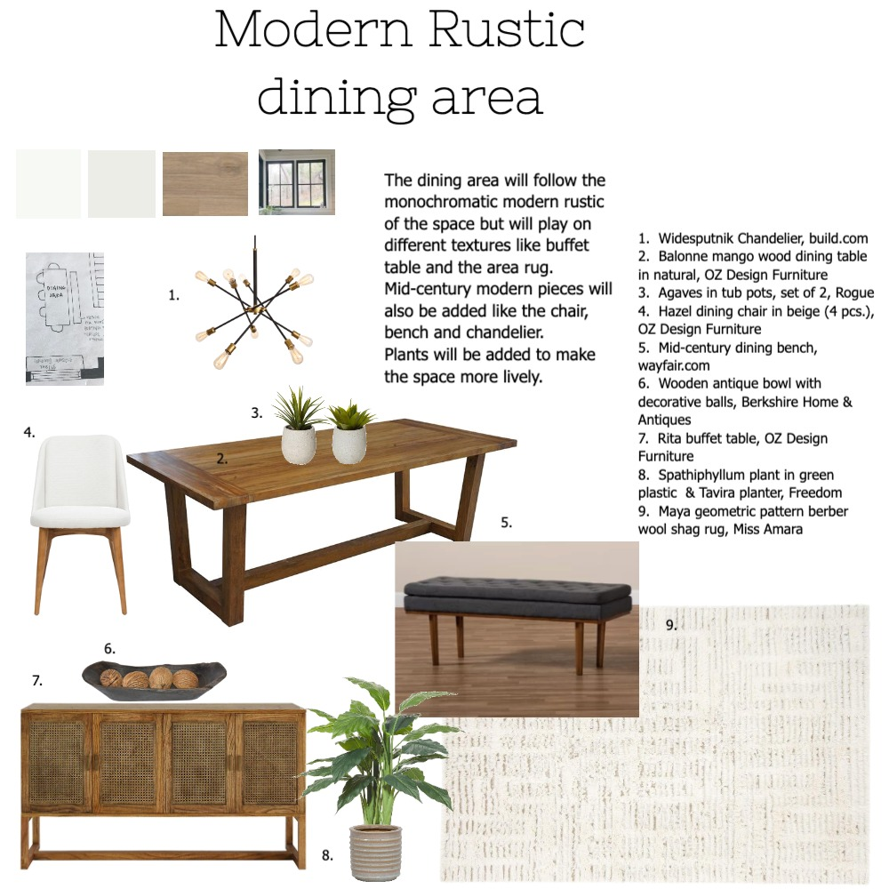 MRdining Interior Design Mood Board by Liaconcertina on Style Sourcebook