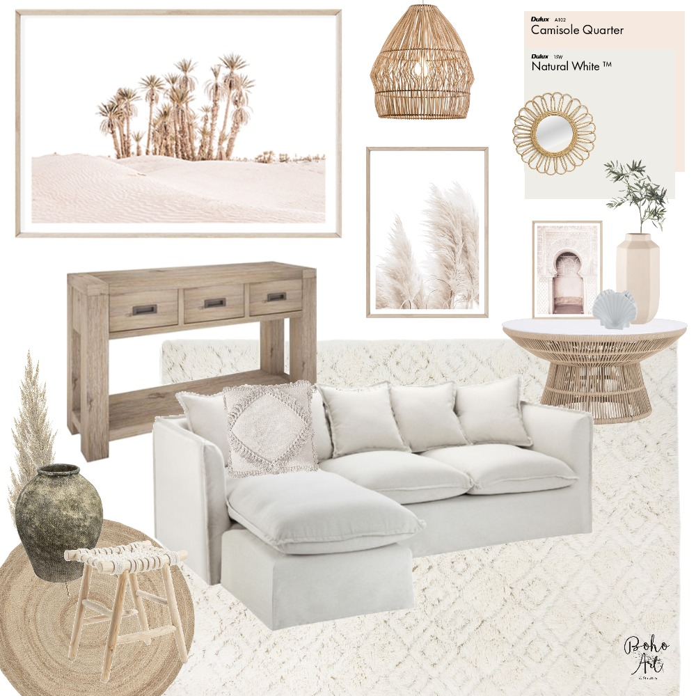 Boho Luxe Coastal Interior Design Mood Board by Boho Art & Styling on Style Sourcebook