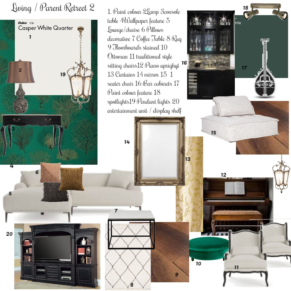 Living / Parent retreet Interior Design Mood Board by Balazs Interiors on Style Sourcebook