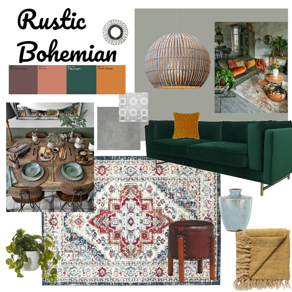 boho chic Interior Design Mood Board by jordielawless on Style Sourcebook