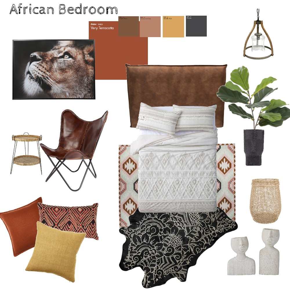 African 1 Interior Design Mood Board by olgaluciagil on Style Sourcebook