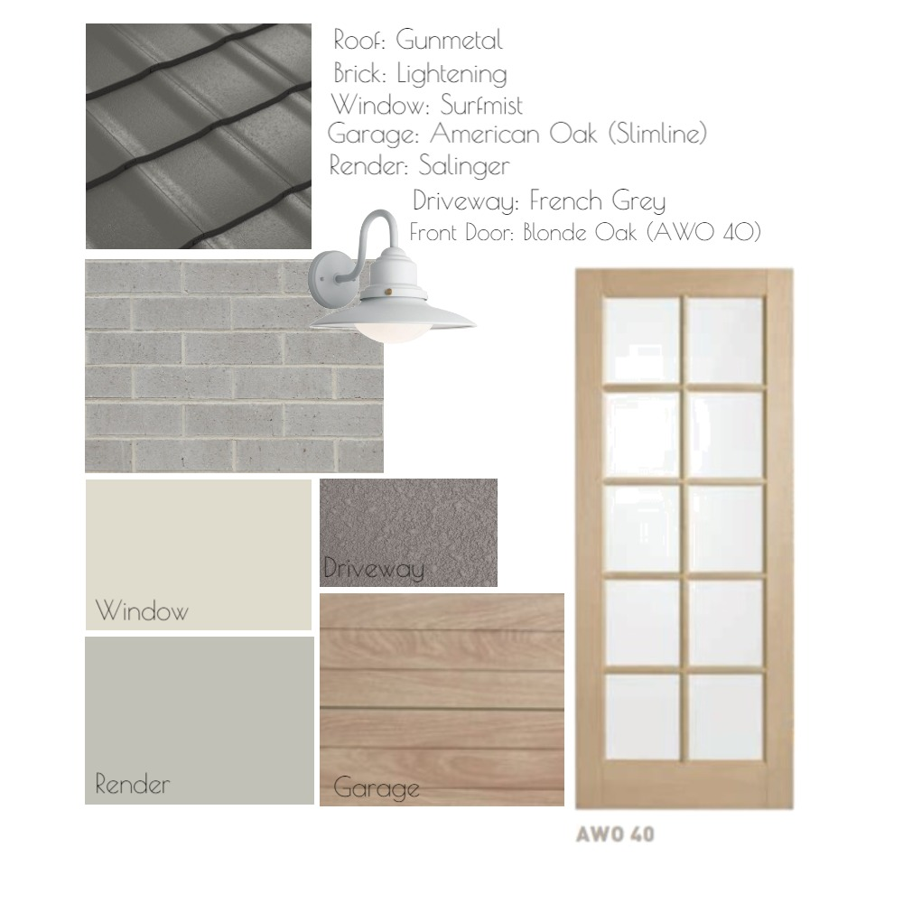 Display home Facade Interior Design Mood Board by Charming Interiors by Kirstie on Style Sourcebook