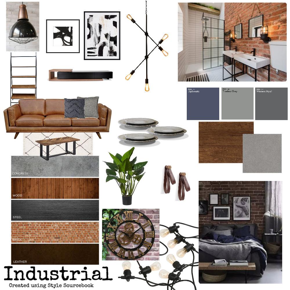Industrial Interior Design Mood Board by MariaGremos on Style Sourcebook