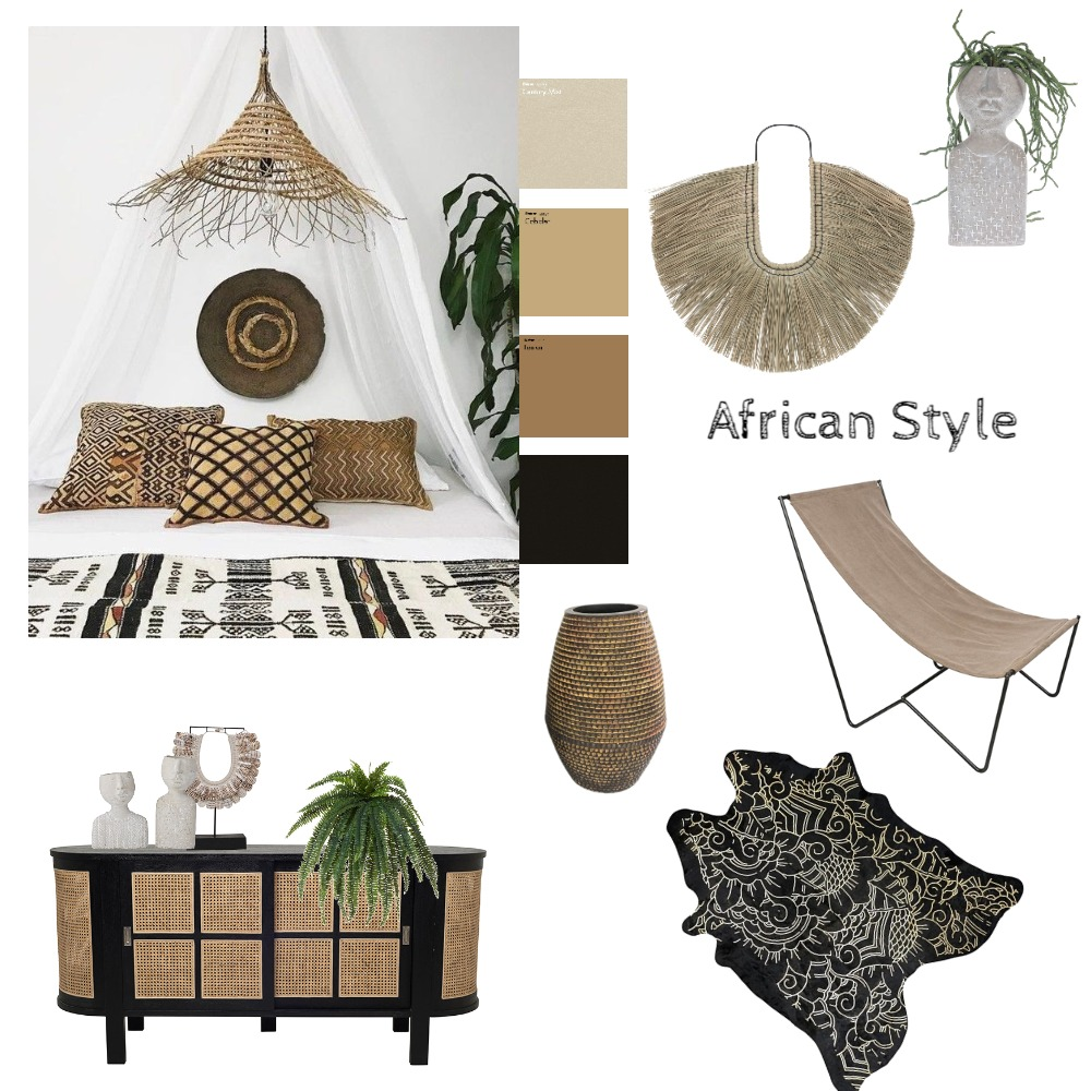 African style Interior Design Mood Board by olgaluciagil on Style Sourcebook