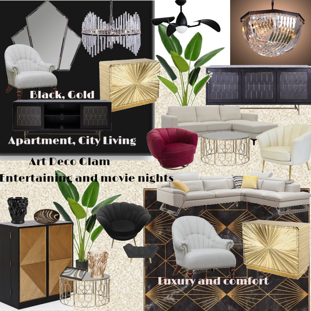 Art Deco Inspo Interior Design Mood Board by Meshell on Style Sourcebook