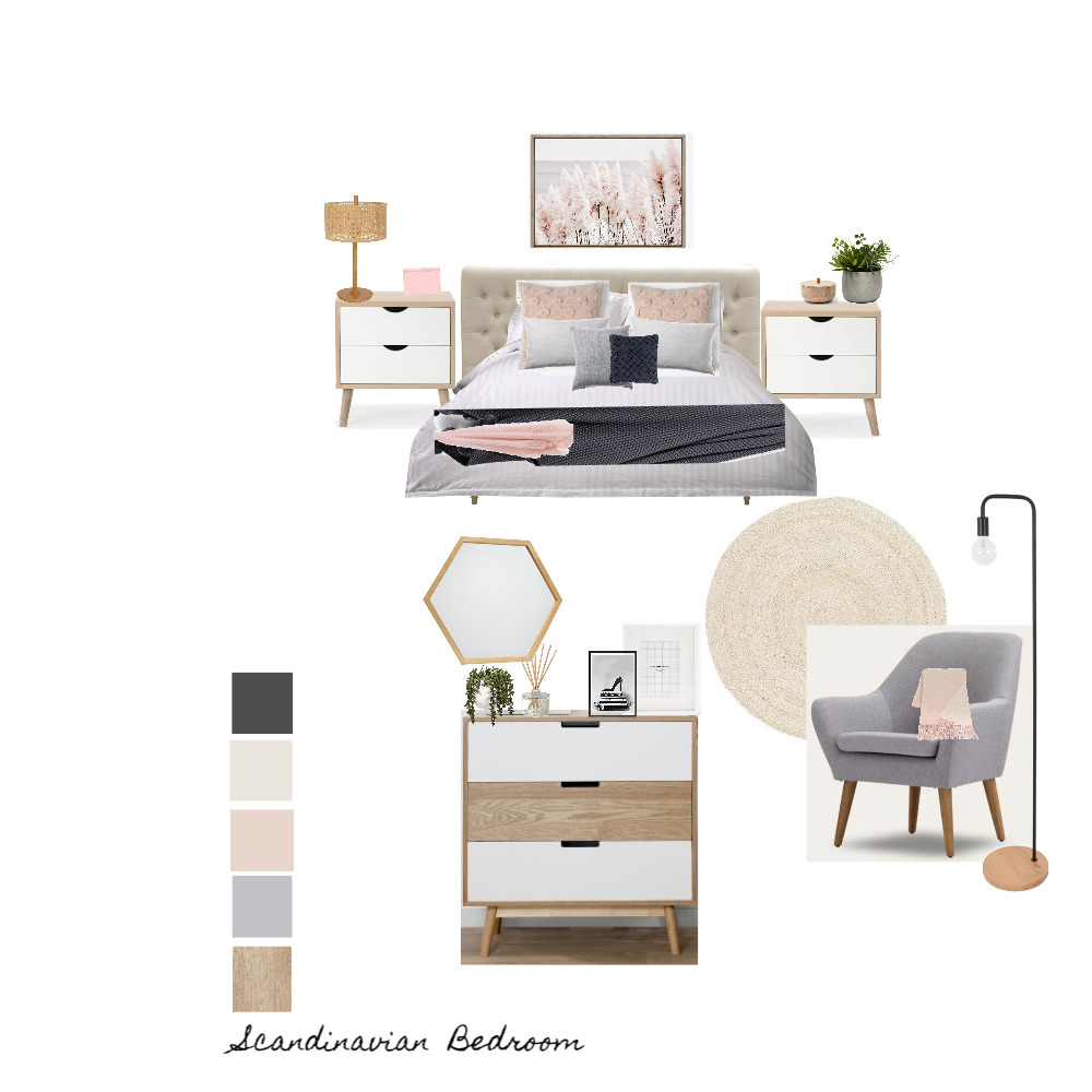 Angela's bedroom - layout Interior Design Mood Board by mtammyb on Style Sourcebook