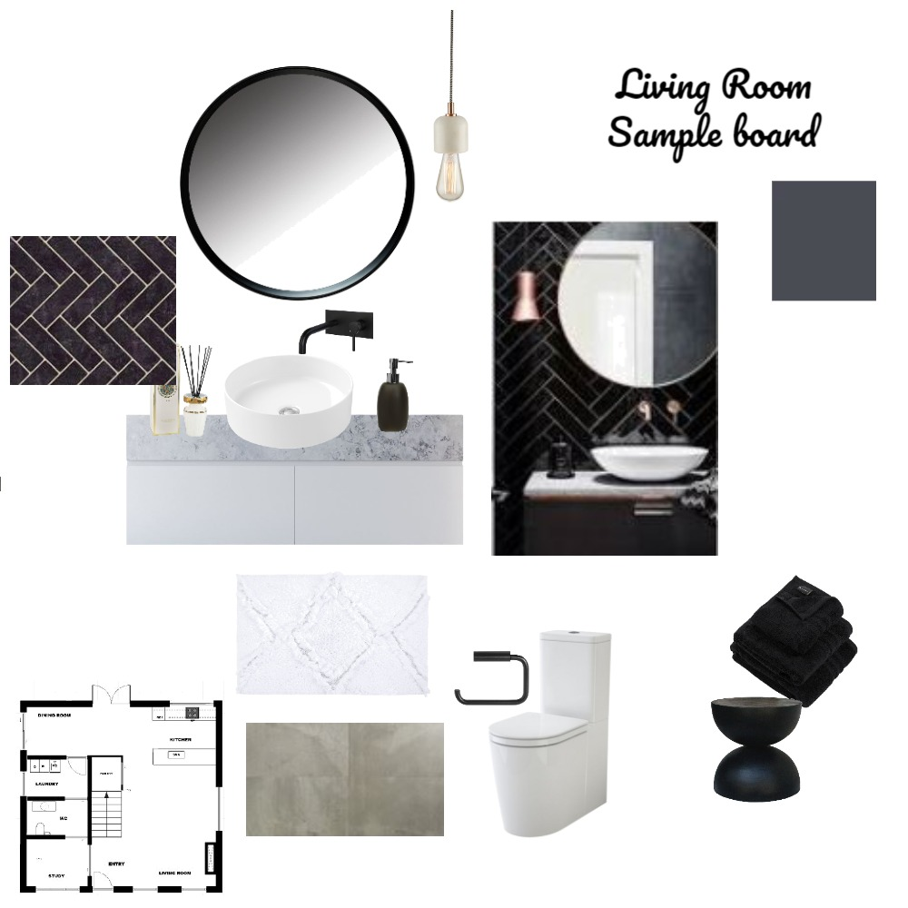 Sample Board Bathroom Interior Design Mood Board by Danche on Style Sourcebook