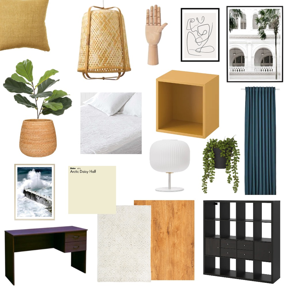 Bedroom with yellow accent Interior Design Mood Board by emmajosefin on Style Sourcebook