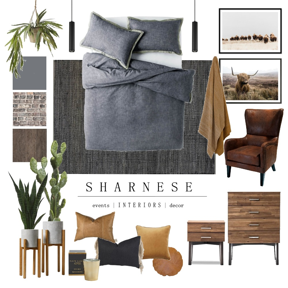 Bachelor Pad Interior Design Mood Board by .Sharnese Interiors. on Style Sourcebook