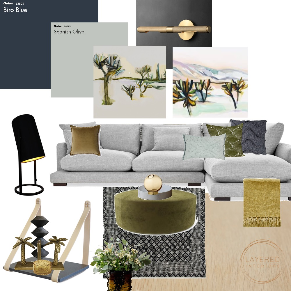 Living Room Interior Design Mood Board by Layered Interiors on Style Sourcebook