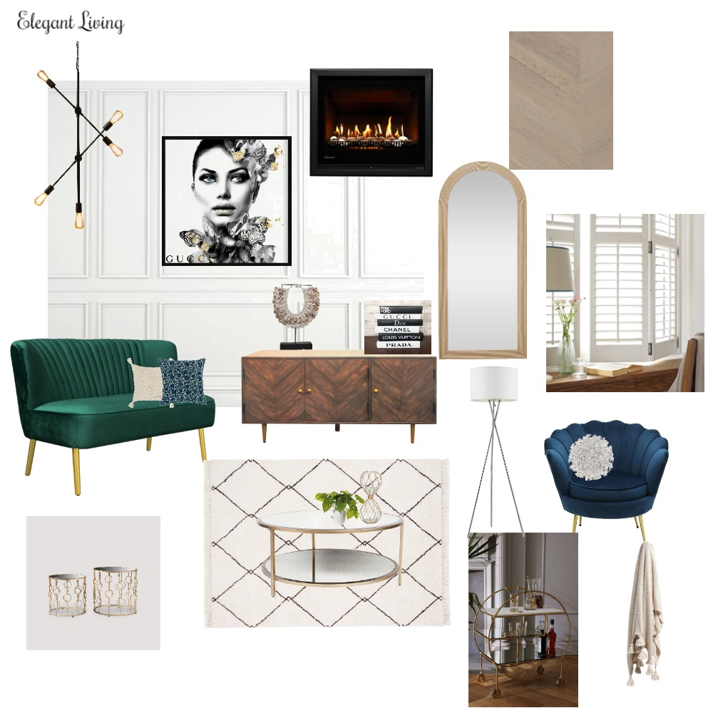 Elegant Living Interior Design Mood Board by Tiffany Chetcuti on Style Sourcebook