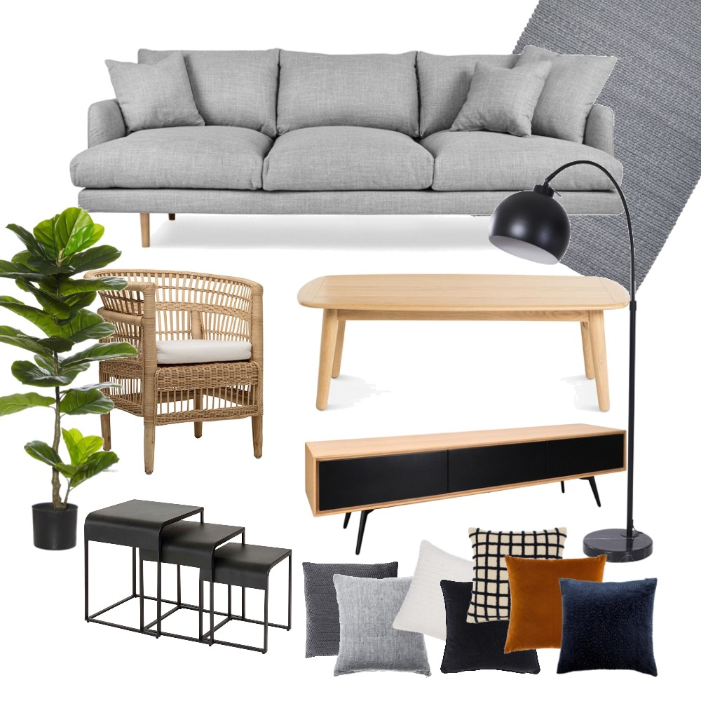 Stratford Street Living Room Interior Design Mood Board by O & N Property Stylists on Style Sourcebook
