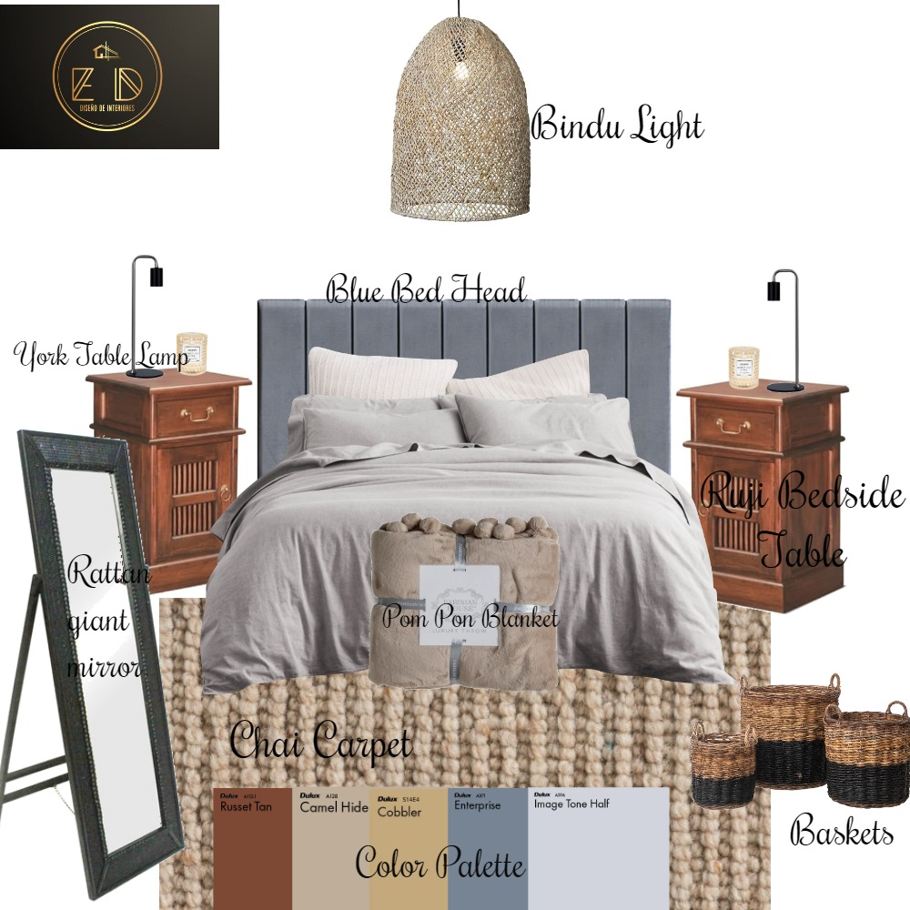 Asian Bedroom Interior Design Mood Board by E D on Style Sourcebook