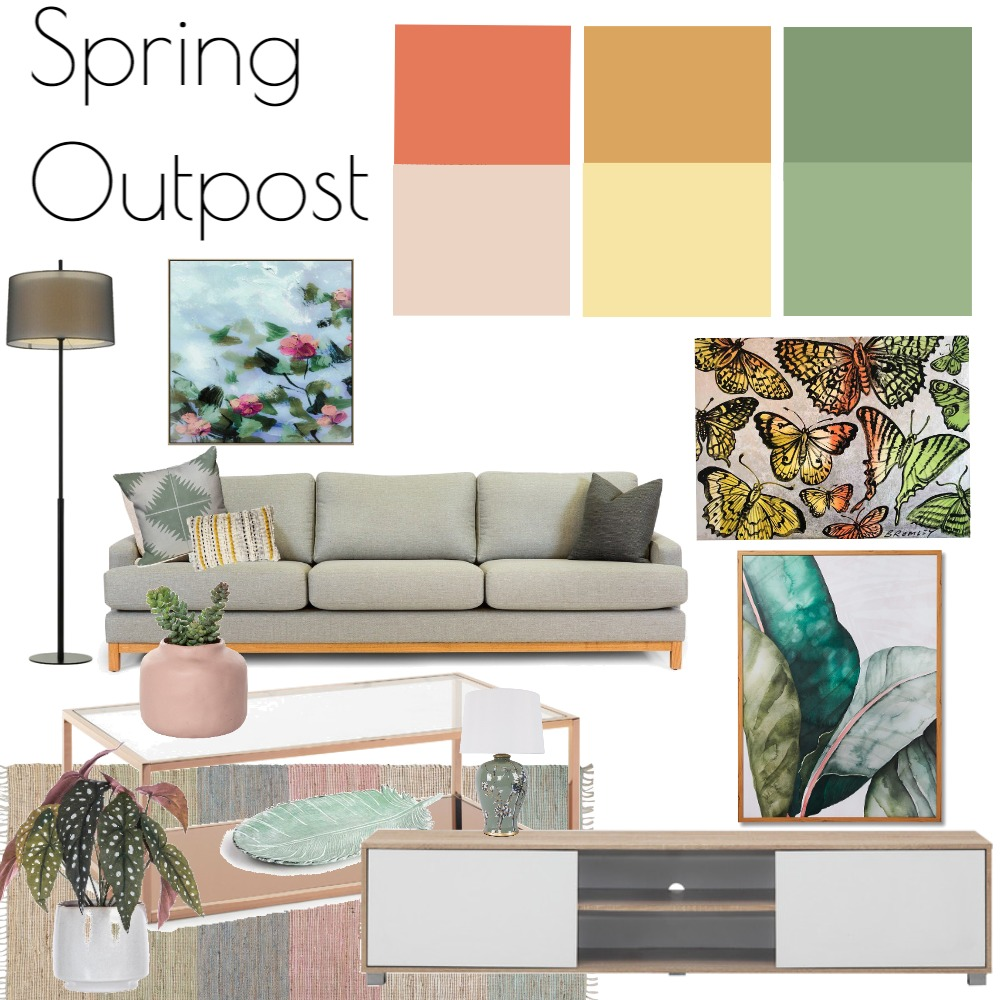 Spring Outpost Interior Design Mood Board by ggribeiro on Style Sourcebook