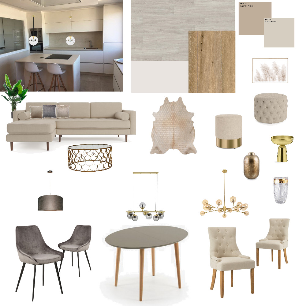 braun/beige/gold Interior Design Mood Board by Nikola on Style Sourcebook