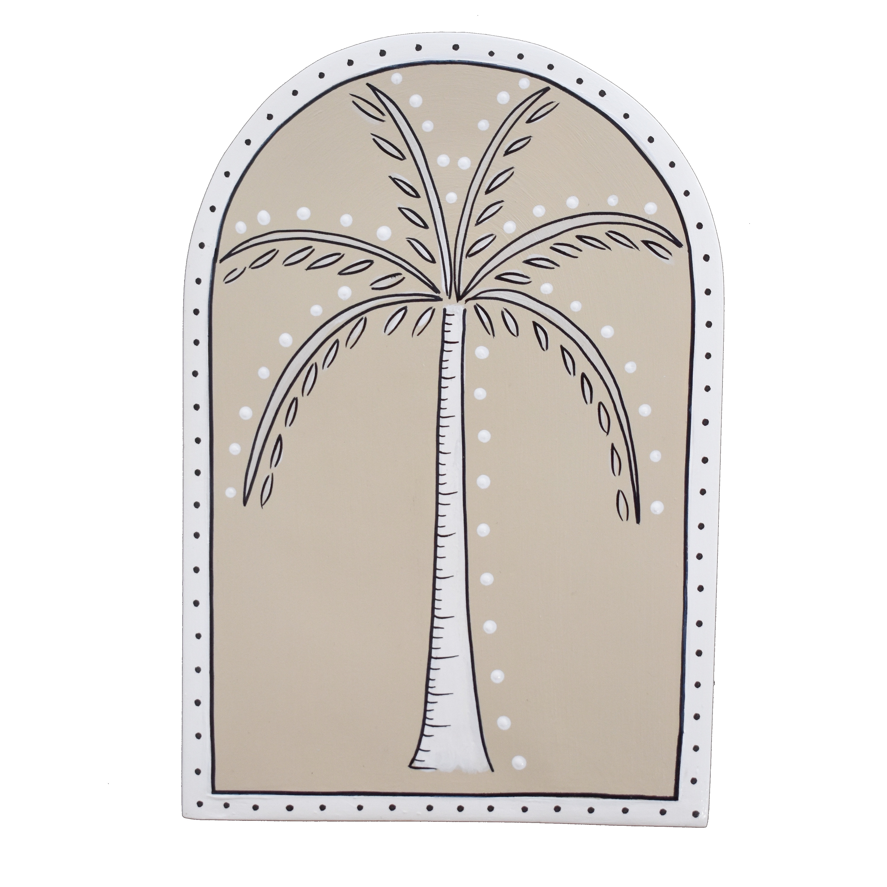 Summer Palm Tree Wall Tile -Large Dusty Olive by My Kind of Bliss, a Wall Hangings & Decor for sale on Style Sourcebook