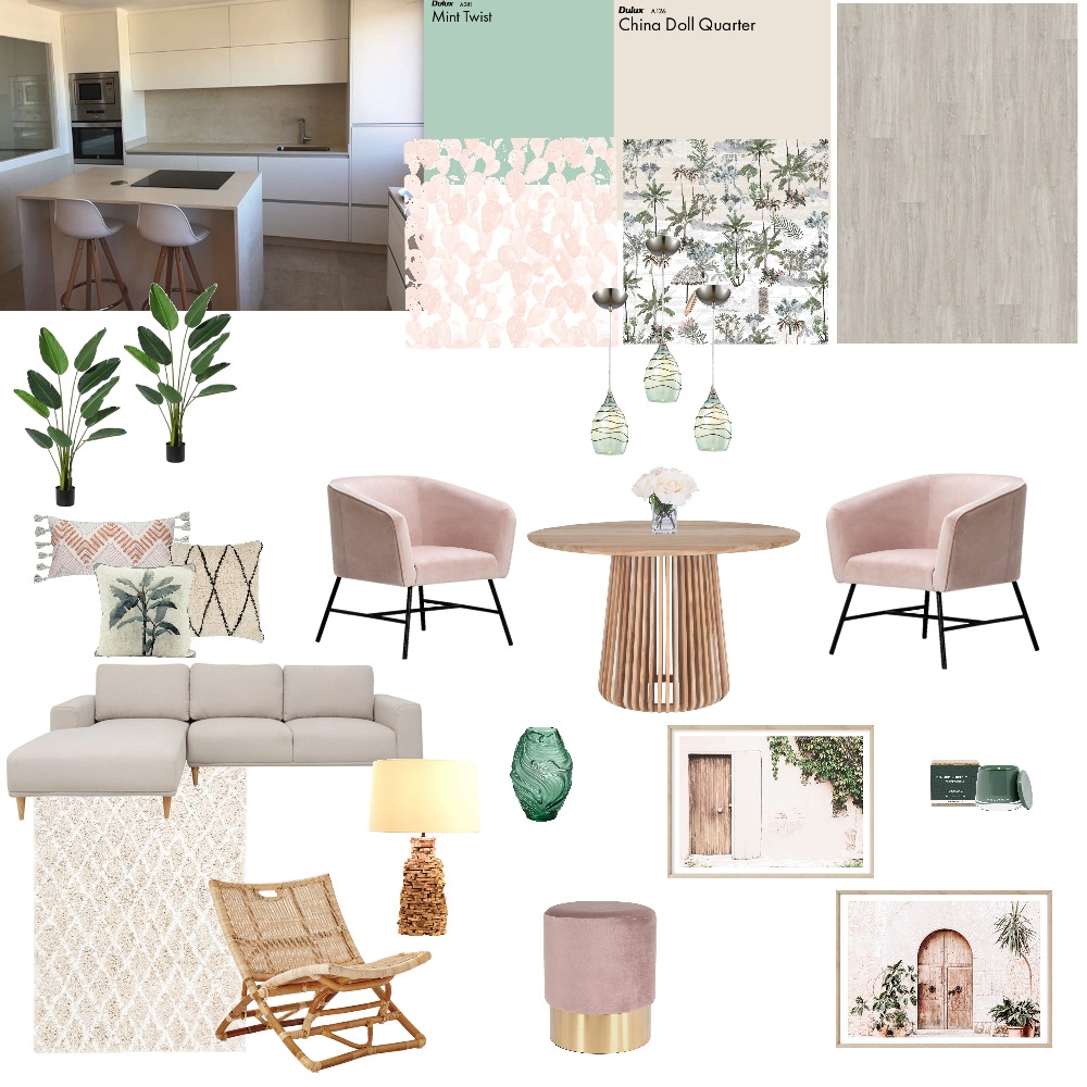 rosa / mint Interior Design Mood Board by Nikola on Style Sourcebook