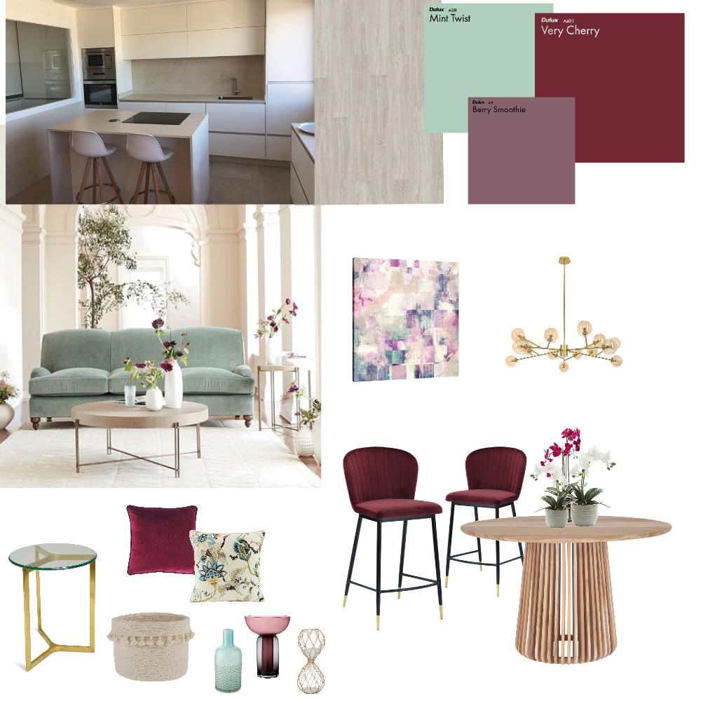Vorschlag 4 - mint_bordeauxrot Interior Design Mood Board by Nikola on Style Sourcebook