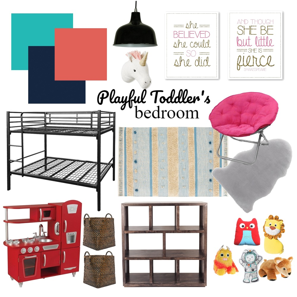 Playful Toddler Bedroom Interior Design Mood Board by janiehachey on Style Sourcebook