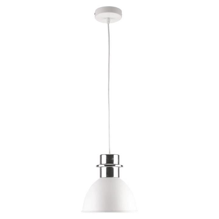 Leighton Metal Pendant Light, Small, White