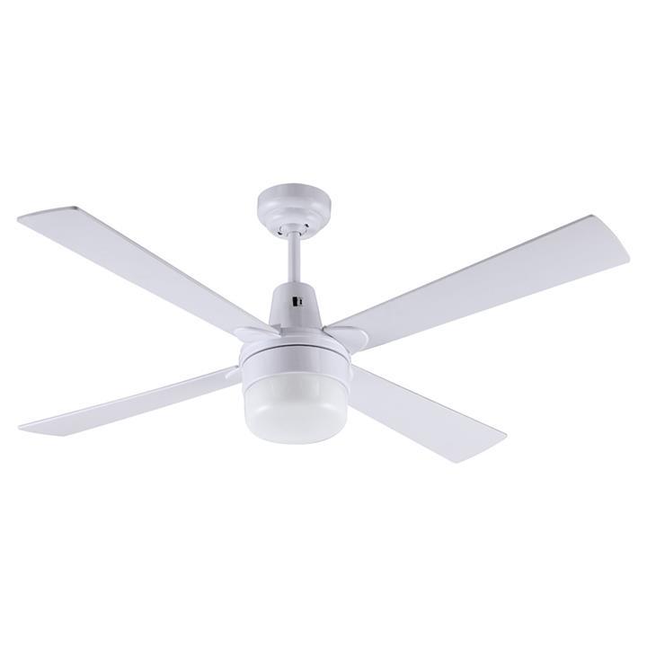 "Kimberley II Ceiling Fan with Light, 120cm/48"", White"