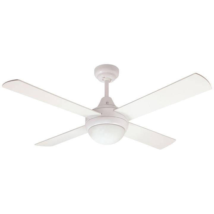 "Glendale Celing Fan with Light, 120cm/48"", White"