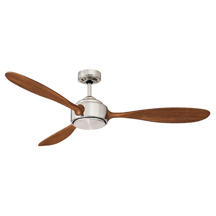 "Duxton AC Ceiling Fan, 130cm/52"", Brushed Chrome"