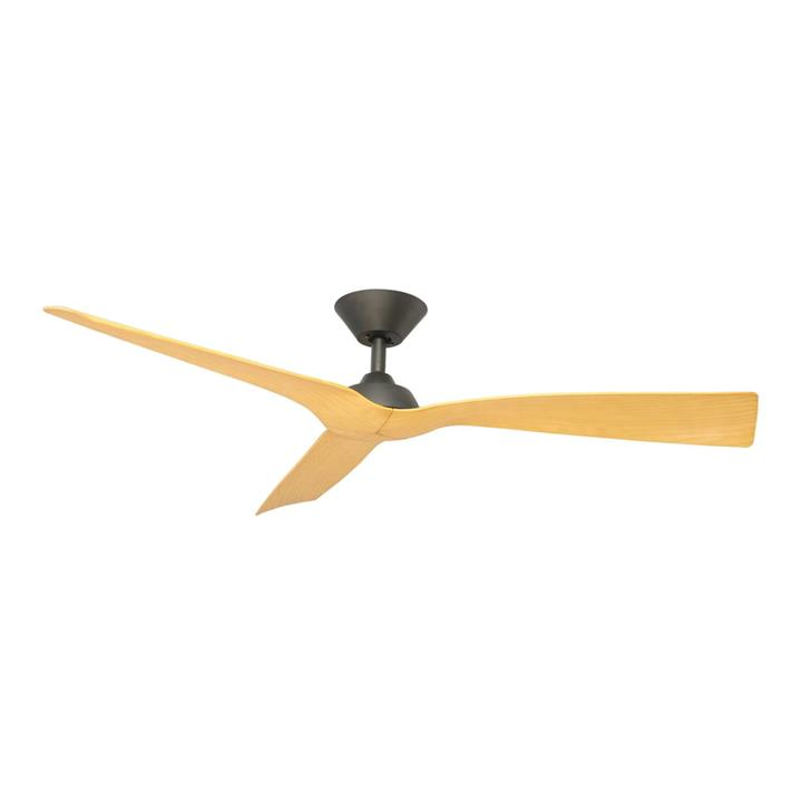 "Trinidad III DC Ceiling Fan, 130cm/52"", Black / Natural"