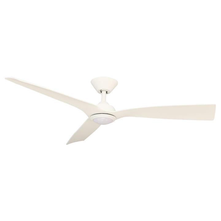 "Trinidad III DC Ceiling Fan with LED Light, 130cm/52"", White"