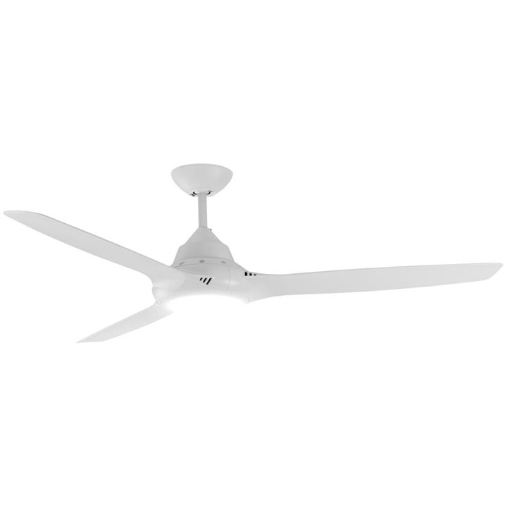 """Phaser Indoor / Outdoor AC Ceiling Fan with LED Light, 147cm/58"""", White"""