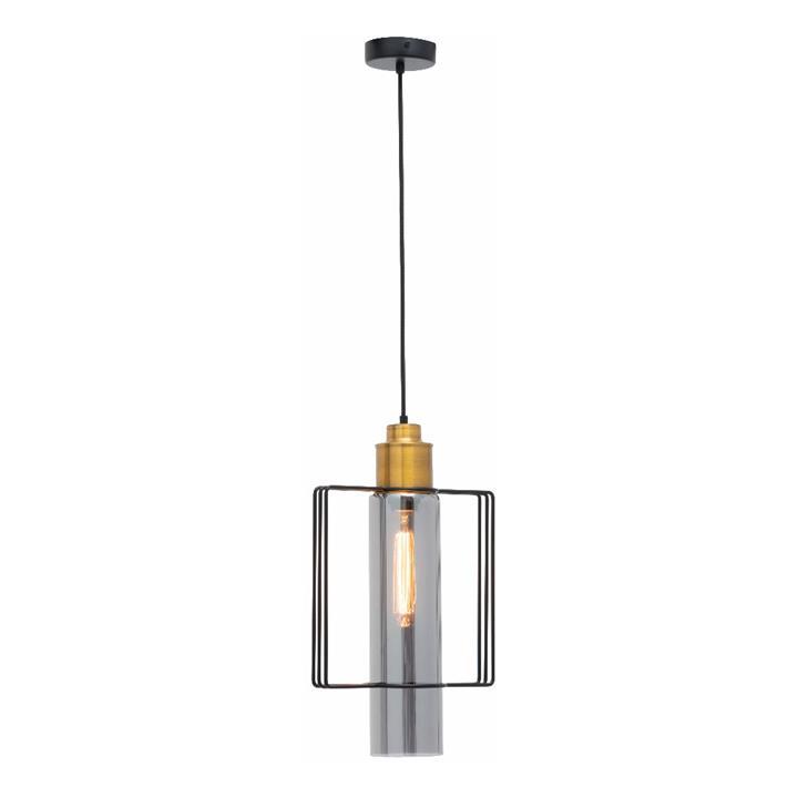 Empire Metal & Glass Pendant Light, 1 Light