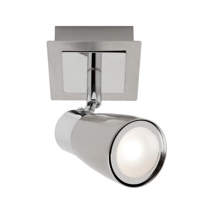 Alecia Metal LED Spotlight, Brushed Chrome