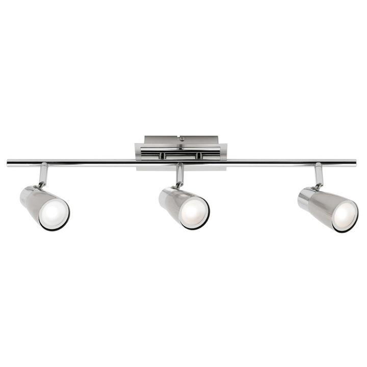 Alecia Metal LED Spotlight, Bar, 3 Light, Brushed Chrome