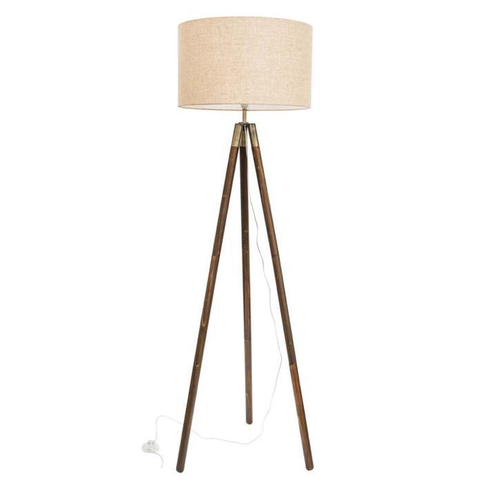 Prince Wooden Tripod Floor Lamp