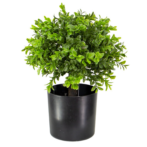 33cm Potted Faux Boxwood Topiary
