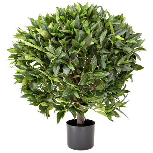 75cm Potted Faux Bay Leaf Topiary