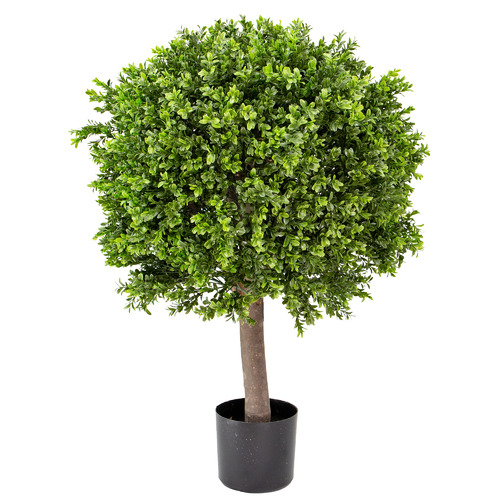 95cm Potted Faux Boxwood Ball Tree