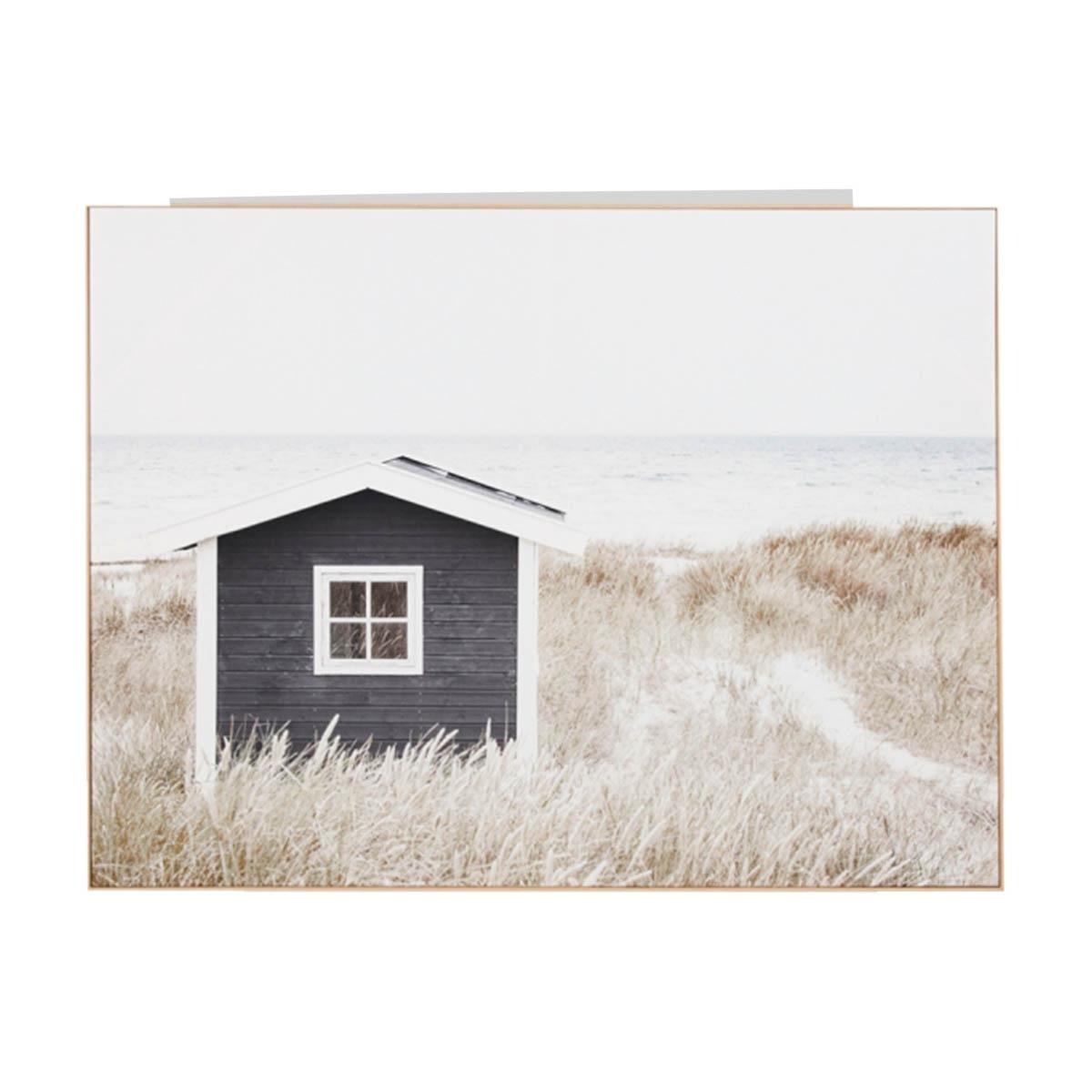 Coastal Cottage Box Framed Canvas in 140 x 105cm