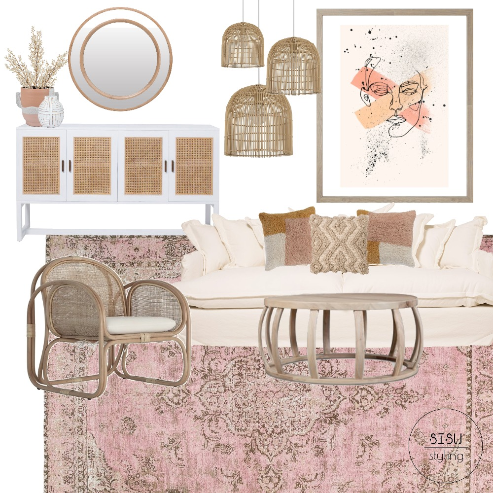 Oz Design, boho chic loungeroom Interior Design Mood Board by Sisu Styling on Style Sourcebook