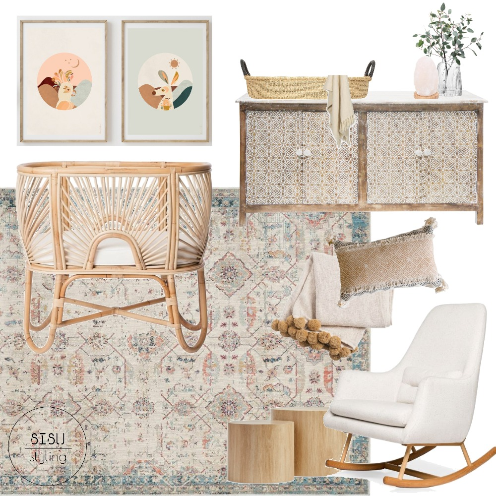 Natural Nursery Interior Design Mood Board by Sisu Styling on Style Sourcebook