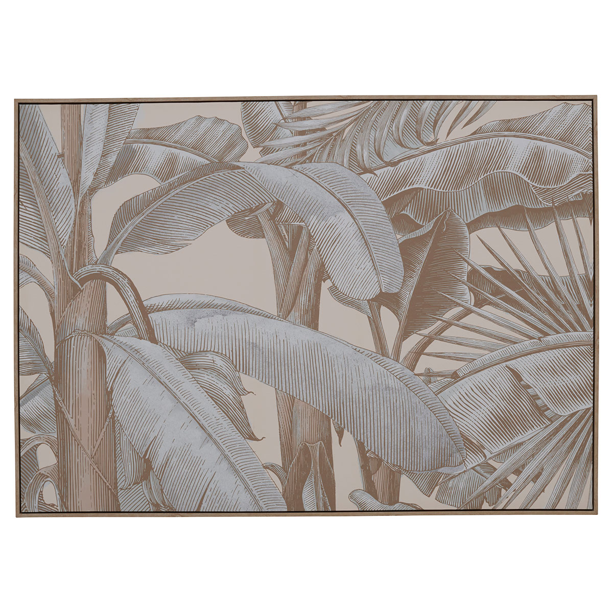 MUTED TROPICAL BOX FRAMED CANVAS in 140x100cm