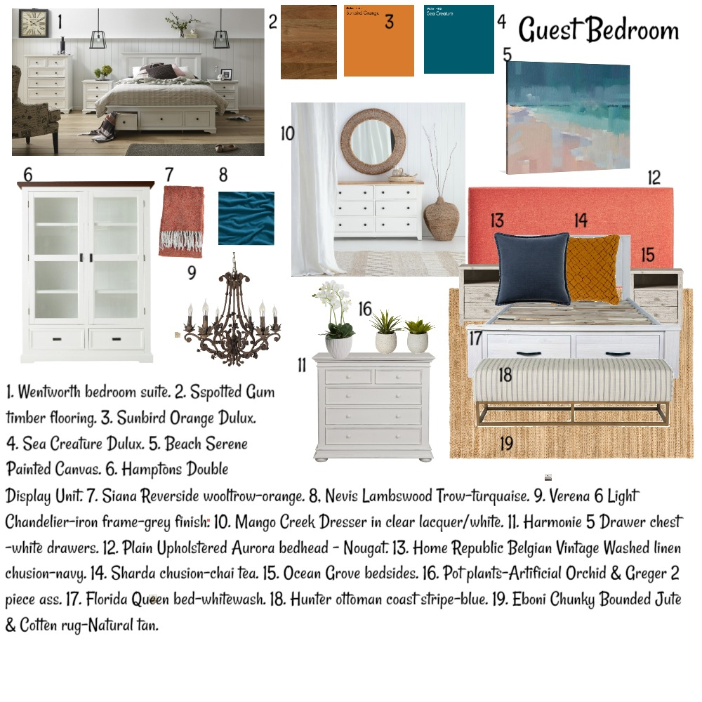 Mood board guest bedroom Interior Design Mood Board by Stephanievanbrakel on Style Sourcebook