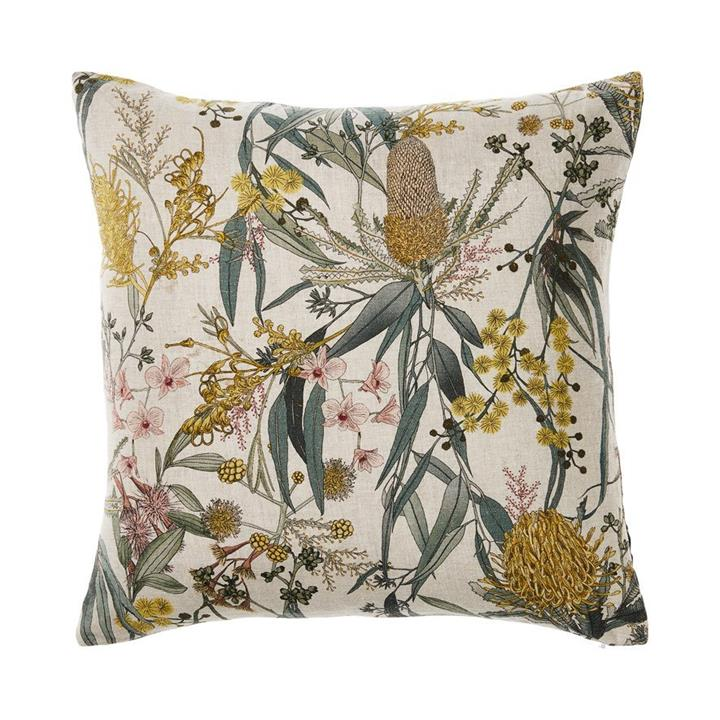 Adairs Eucalyptus Linen Cushion S20 Sage